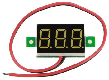 Mini voltmeter yellow